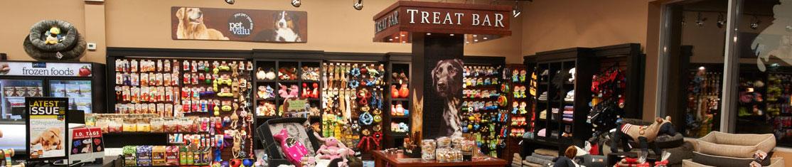 Habits, jouets, produits cosmétiques pour chats et chiens