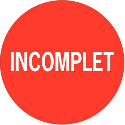 Livret incomplet