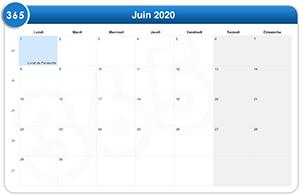 Calendrier des épreuves en 2020