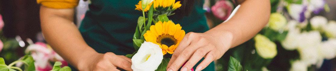 Confection d'un bouquet de fleurs