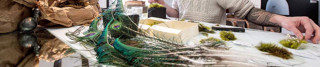 Réalisation d'un modèle en plume