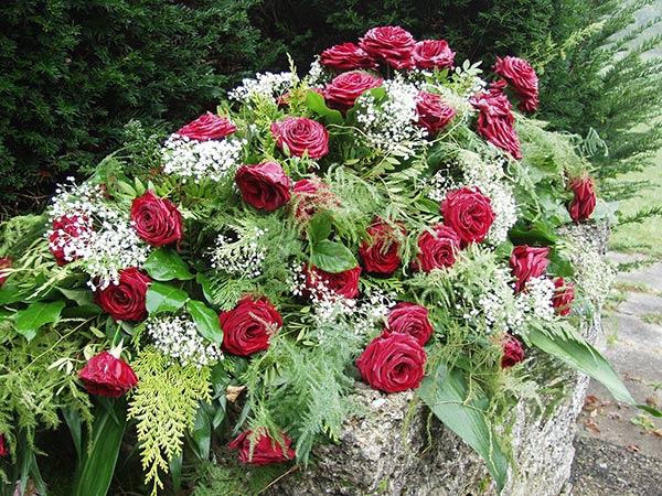 Gerbe de fleur pour enterrement ou Toussaint