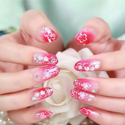 Exemple de faux ongles décorés