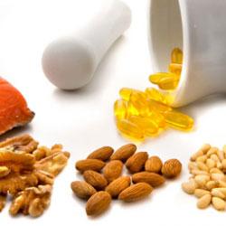 Noix, acide gras insaturés, amendes