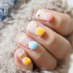 """Ongles """"pompons nails"""""""
