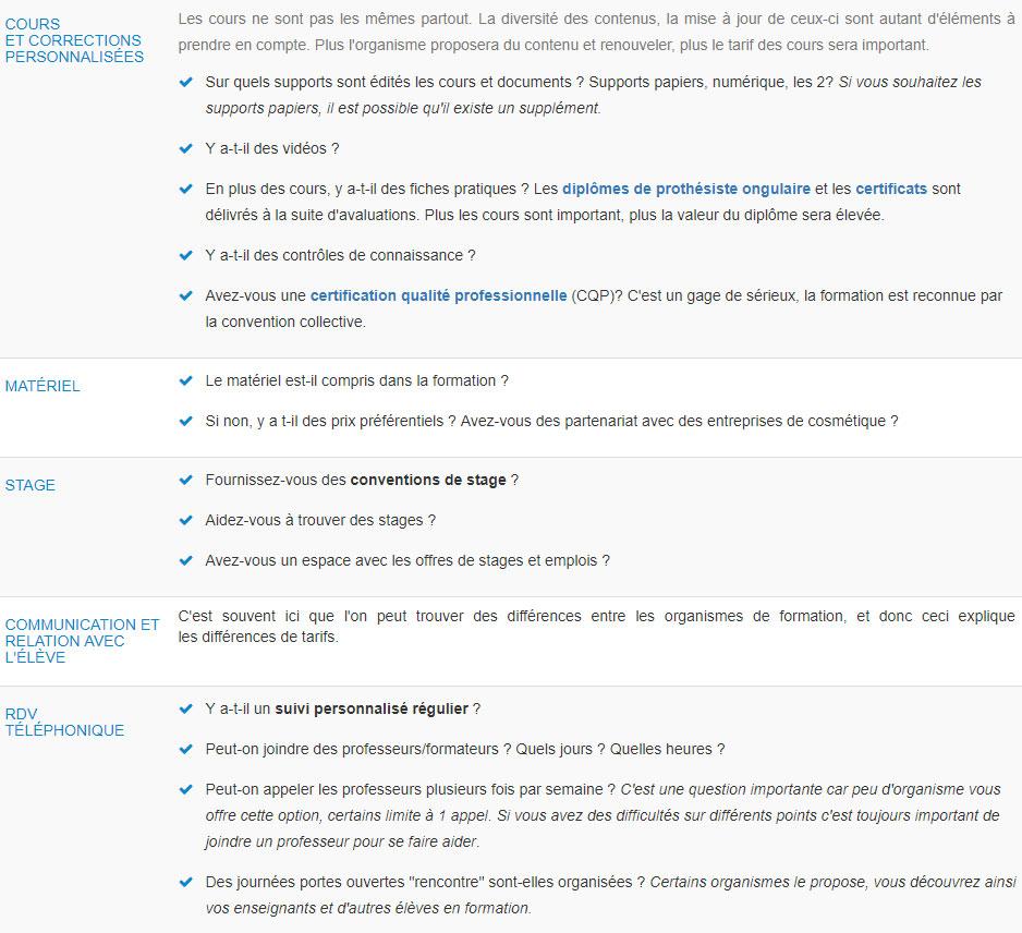 Liste de questions à poser pour trouver un organisme de formation à distance qui corresponde à vos critères