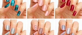 Exemples de couleurs possibles pour ses ongles