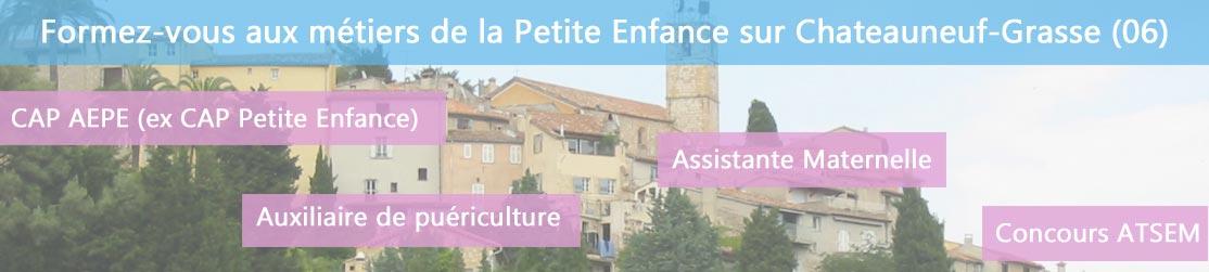 Ecole de Formation petite enfance sur Chateauneuf-Grasse