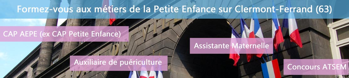 Ecole de Formation petite enfance sur Clermont-Ferrand