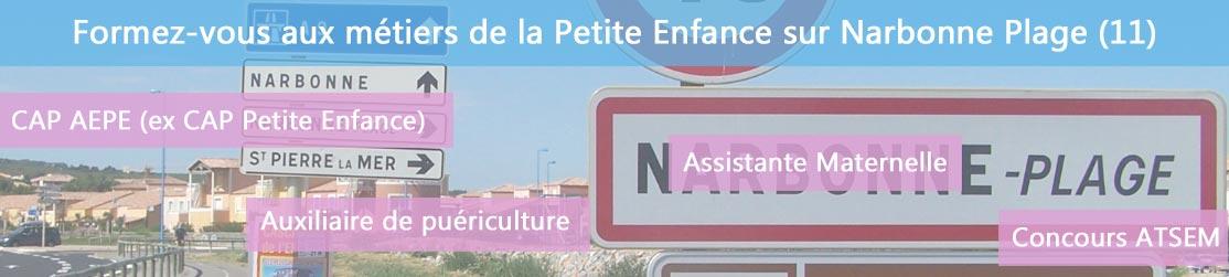 Ecole de Formation petite enfance sur Narbonne-Plage