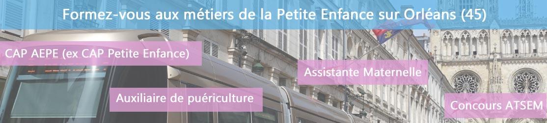 Ecole de Formation petite enfance sur Orléans