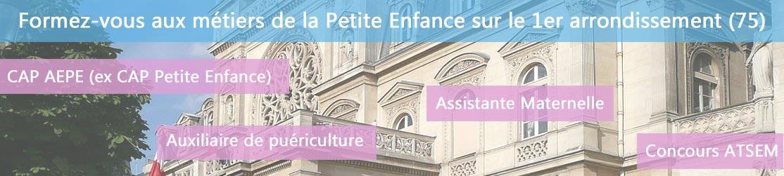 Ecole de Formation petite enfance sur Paris 1er