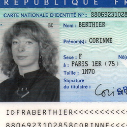 Document d'identité légale