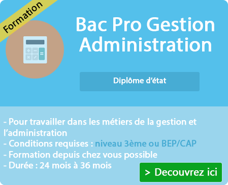 formation a distance bac pro gestion administration