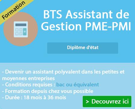 Programme et examen BTS Gestion PME PMI