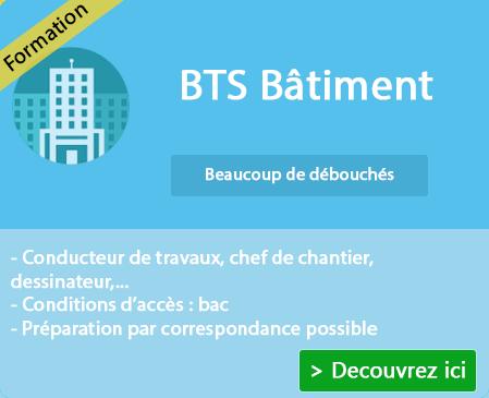 Diplôme et Formation BTS Bâtiment sur Villeneuve Loubet