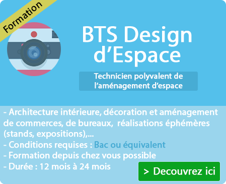 Déroulement formation du diplôme design d'espace