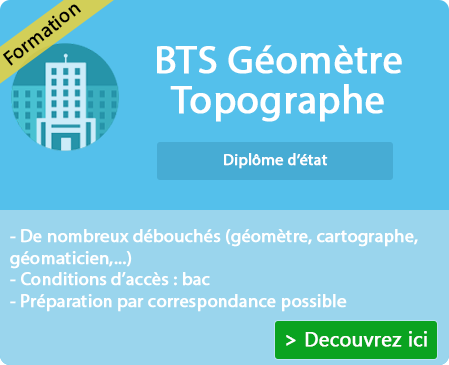 Programme préparation BTS Géomètre Topographe sur Montreal La Cluse