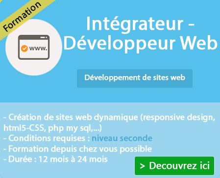 Programme formation Développeur web
