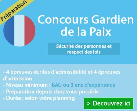 Liste des épreuves concours gardien de la paix sur Tarbes