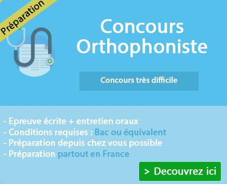 Préparation concours orthophoniste